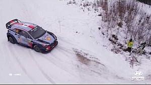 Rally de Suecia lo mejor de: Helicóptero - Hyundai