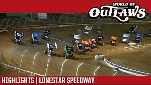 World of Outlaws Craftsman Sprint Cars Lonestar Speedway March 3, 2017 | Highlights