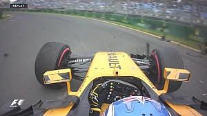 GP d'Australie - Le crash de Palmer en EL2