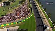 Vettel'in pit stop sonrası Hamilton'u geçişi