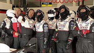 L'accident de la Toyota #7 à Silverstone