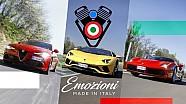 Alfa Giulia, Ferrari 488, Lamborghini Aventador | 2.000 CV nella Terra dei Motori