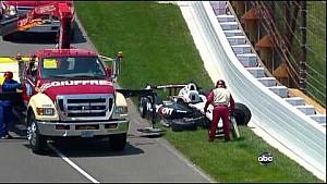 Авария Майка Конвея и Уилла Пауэра в Indy 500 2012 года