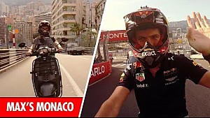 A bordo con Max Verstappen vuelta al circuito del GP de Mónaco en una moto