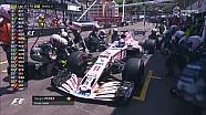 2017 Monaco GP  - Perez Kanat Kırılan Ön Kanadını Değiştiriyor