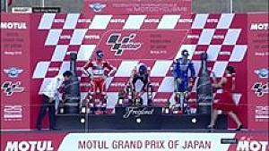 Perayaan podium MotoGP Jepang 2016