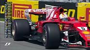 2017 Kanada GP  - Vettel'in Mecburi Yaptığı Pitstop