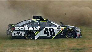 Johnson spins in practice, will go to backup car