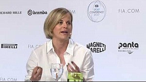 Susie Wolff at the 2017 FIA sport conference