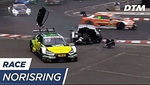 Norisring: Paffett and Rockenfeller huge crash