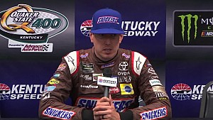 Kyle Busch wins Kentucky pole in weather-shortened qualifying