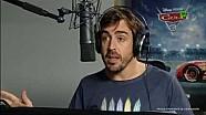 Cars 3: sesión de doblaje con Fernando Alonso