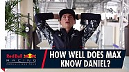 How well does Max Verstappen know Daniel Ricciardo?