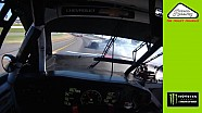 No. 42 in-car view of opening-lap wreck