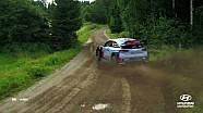 Rally van Finland vanuit de lucht