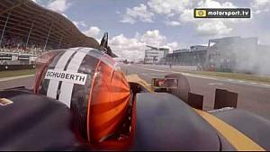Nico Hülkenberg draait donuts tijdens Gamma Racing Day