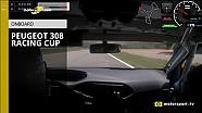 À bord de la Peugeot 308 Racing Cup !