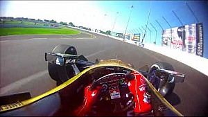 Visor cam: James Hinchcliffe at Gateway Motorsports park