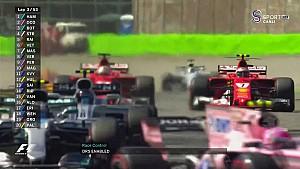 2017 İtalya GP - Verstappen'in Massa ile Teması ve Lastik Patlatması