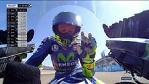 Ekspresi Rossi setelah kualifikasi #AragonGP
