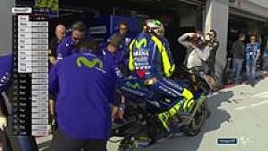 Pit stop Rossi di FP3 Aragon