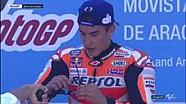 Selebrasi para pembalap Spanyol di podium #AragonGP