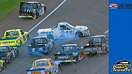 Playoff drivers Sauter, Grala, Cindric involved in restart crash