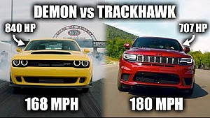 The Jeep Trackhawk is technically faster than a Dodge Demon