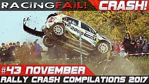 Rally especial de noviembre Rallye du Condroz 2017 accidente compilación semana 43 | Racing fail