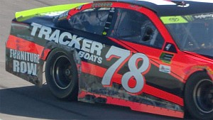 Truex Jr. gets into the wall in Miami practice