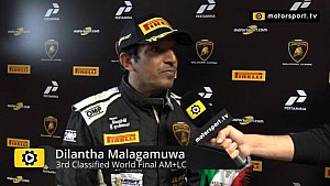 Lamborghini Super Trofeo World Final AM+LC Race 2 - Interview with Dilantha Malagamuwa