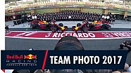 Les coulisses de la photo d'équipe de Red Bull Racing