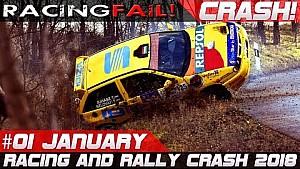 Compilación de Racing and rally crash semana 1 enero 2018 | Racingfail