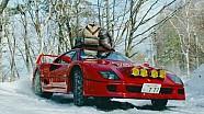Дріфт на Ferrari F40 по снігу!