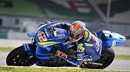 Les essais de Suzuki à Sepang
