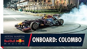 Ricciardo, Colombo caddelerinde F1 aracıyla
