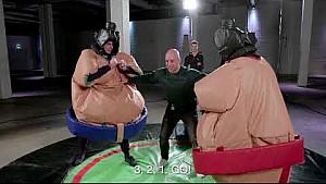 Max Verstappen als Sumo-Ringer