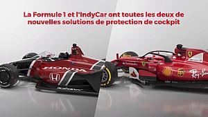 Comparatif entre le Halo F1 et le pare-brise IndyCar