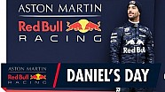 Follow Daniel Ricciardo as he drives the RB14 for the first time