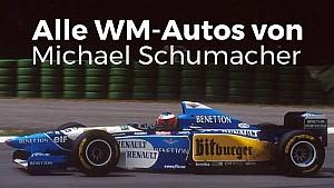 Alle WM-Autos von Michael Schumacher