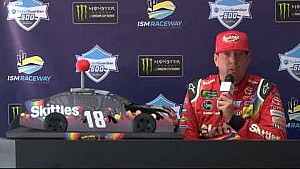 Brexton Busch riding in style in souped-up Lightning McQueen car