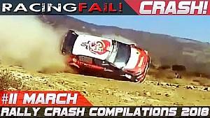Recopilación de accidentes de rally semana 11 de marzo de 2018