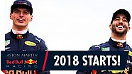The 2018 F1 season starts here! | Daniel Ricciardo and Max Verstappen are ready to race
