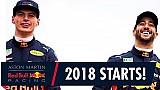 La temporada comienza aquí   Daniel Ricciardo y Max Verstappen