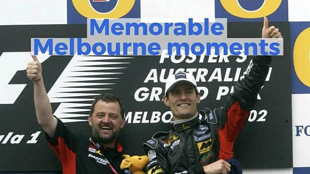 Formula 1 Memorable Melbourne moments