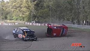Enorme crash in Argentijnse toerwagens