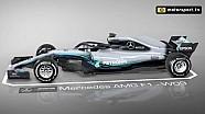 De Mercedes W09 in 3D