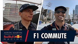 Max Verstappen and Daniel Ricciardo's journey to the Azerbaijan Grand Prix