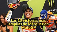 Las 10 victorias más amplias de Márquez en MotoGP
