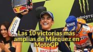 Las 10 victorias más amplias de Márquez en MotoGP
